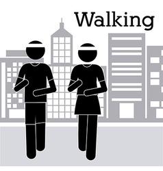Walking design vector