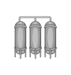 Water treatment for beer production icon vector