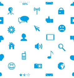 web and social networks simple icons seamless vector image