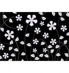 white funky flowers abstract pattern vector image