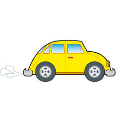 yellow car icon on white background vector image