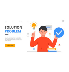 Young male manager or boss has an idea vector