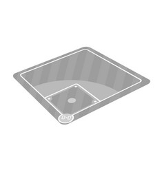 baseball court baseball single icon in monochrome vector image vector image