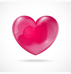 Glossy Red Heart Valentines Day Background vector image