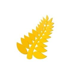 Golden palm cartoon icon vector image
