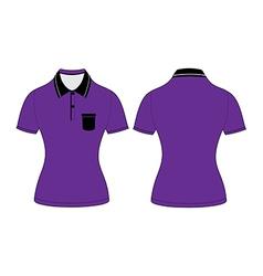 polo woman shirt design templates vector image