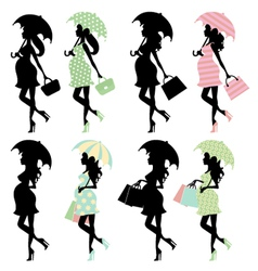 Silhouette moms vector image vector image