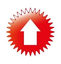 arrow emblem icon image vector image vector image