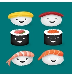 Cute sushi vector image vector image