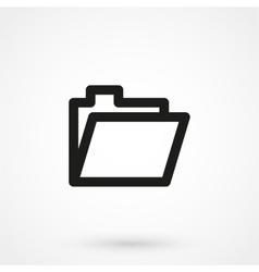 folder icon black on white background vector image
