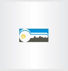key icon symbol design vector image