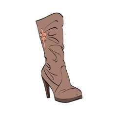 Leather womens boots high heel vector image