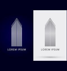 luxury building condominium vector image vector image