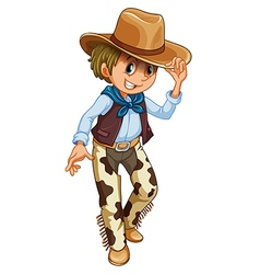 A young cowboy vector image