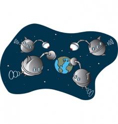 alien spaceship vector image vector image