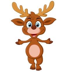 cartoon deer presenting vector image