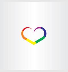 heart rainbow colorful logo icon vector image
