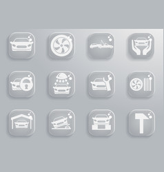 car service maintenance icon set vector image