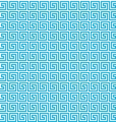 Greek seamless pattern background Blue and white vector image vector image