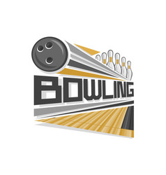 logo for bowling vector image vector image
