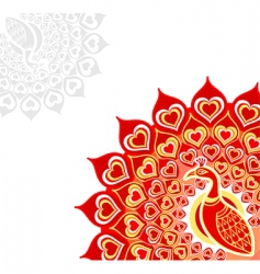 peacock love card vector image vector image