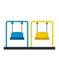 Playground swing icon vector image