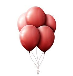 Red balloons floating in the air vector image