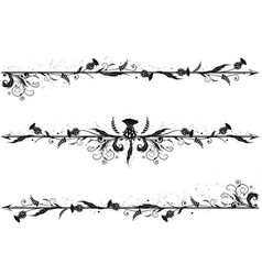 set of dividers with thistle vector image vector image