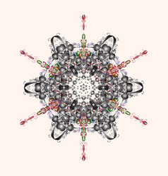 Snowflake icon colorful background color xmas vector