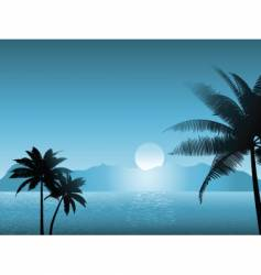tropical scene at night vector image vector image