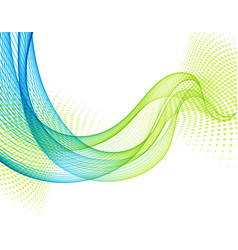 abstract background with blue and green vector image