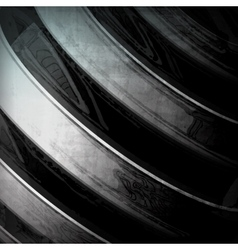 Abstract dynamic metal vector image