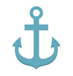 anchor flat icon navigation and nautical vector image
