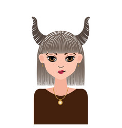 Astrology symbol zodiac sign taurus in doodle vector