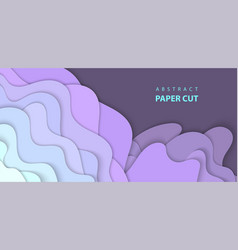 background with light lilac color paper cut vector image