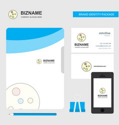 Bacteria plate business logo file cover visiting vector
