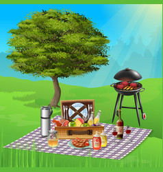 bbq realistic vector image