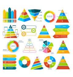 big collection infographic elements pie vector image
