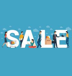 big sale concept vector image
