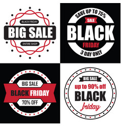 black friday banner sale best tempalate for your vector image