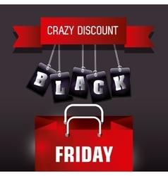 Black friday shopping season vector