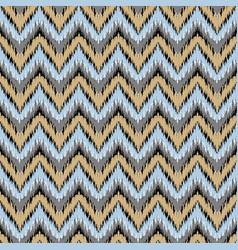 Boho zig zag strip blue seamless pattern vector