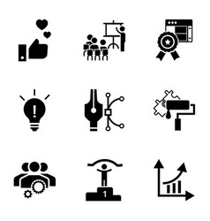 brand company icon set simple style vector image