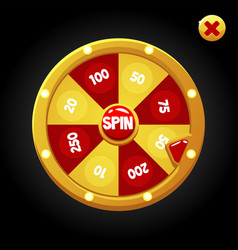Bright spin wheel for playing with numbers vector