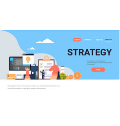 Business people brainstorming strategy concept vector