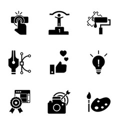 business teamwork icon set simple style vector image