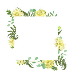 card flowers yellow dahlia watercolor forest vector image