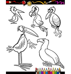 Cartoon Birds for Coloring Book vector image