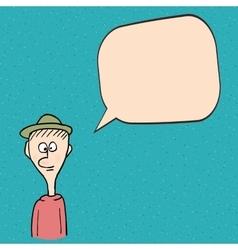 Cartoon man talking vector