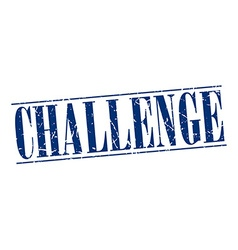 Challenge blue grunge vintage stamp isolated on vector